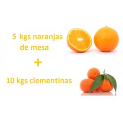 Caja mixta: 5 kgs naranjas...
